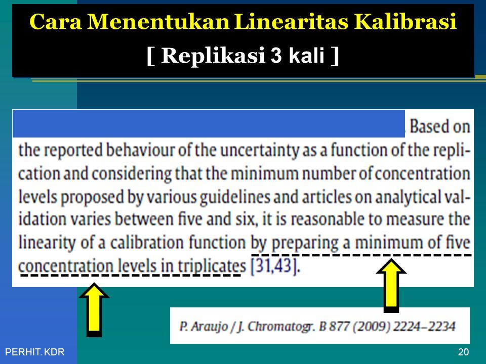 Cara Menentukan Linearitas Kalibrasi [ Replikasi 3 kali ]